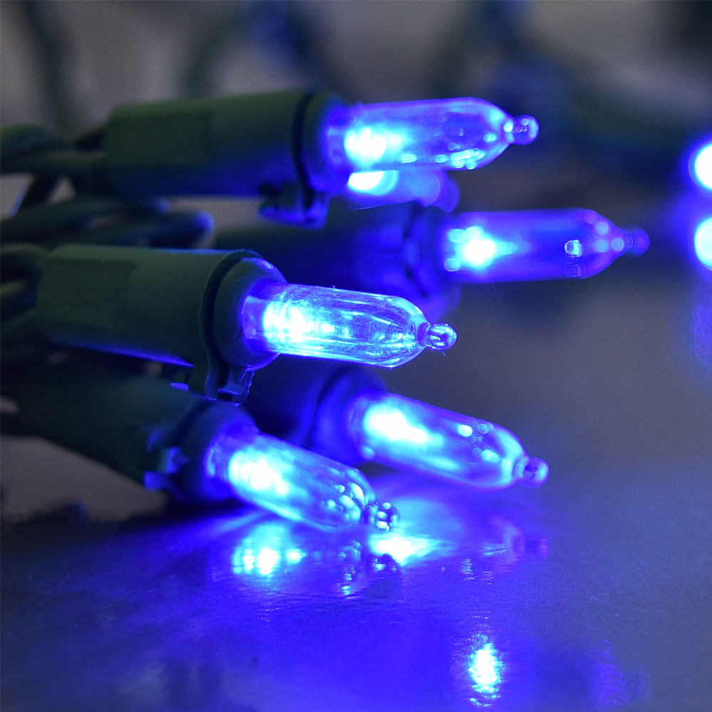Blue LED Mini Traditional String Lights - 60 Lights