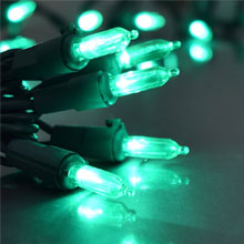 Green LED Mini String Lights