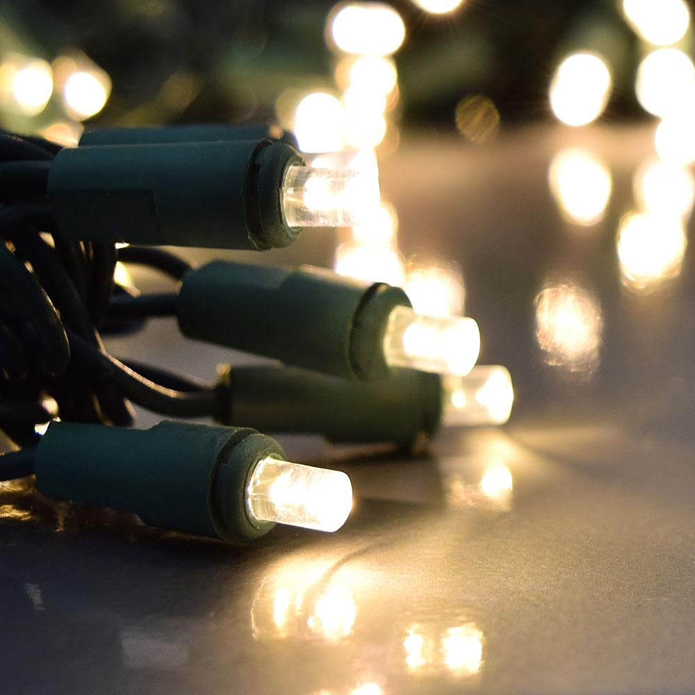 Led String Lights White Cord : Warm White LED String Lights - 60 Lights