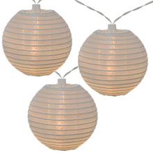 White LED Solar Powered Lantern String Lights - 10 Lights GC2201580