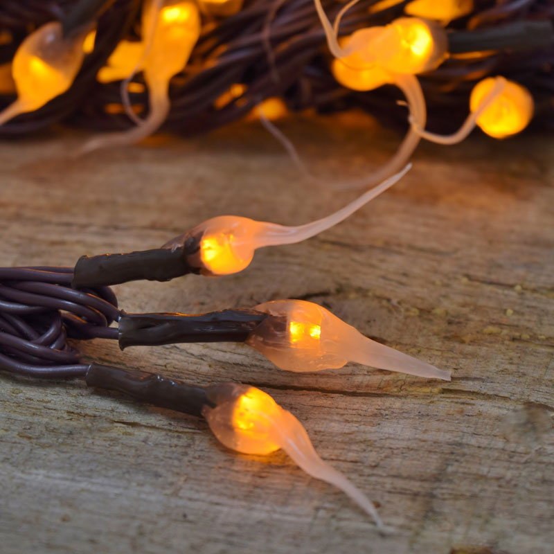 Turkey Party String Lights : Amber Silicone LED String Lights