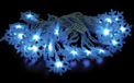 LED Snowflake Party String Light Strand - 25 Blue Lights - 903892