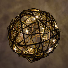 LED Natural Grapevine Ball Light Sphere