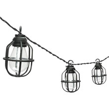 Paradise Edison Black Lantern Patio String Lights