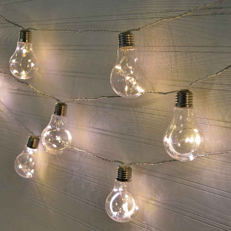 Vintage led patio string lights 28 ft clear wire Household led light bulbs