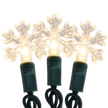 Christmas Snowflake LED String Lights