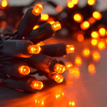 Orange LED Outdoor String Lights