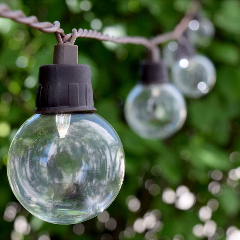 Solar String Lights Outdoor Patio : Solar Powered String Lights