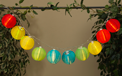Multi Color LED Solar Powered Lantern String Lights - 10 Lights - GC2201590