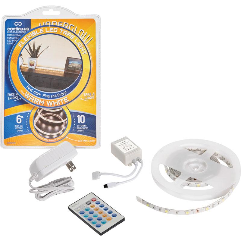 Underglow plug in warm white led tape light starter kit underglow plug in warm white led tape light aloadofball Images
