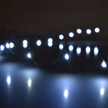 Battery Opereated White LED String Light Strand