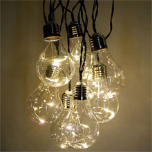 LED Vintage Light Bulb String Lights - White