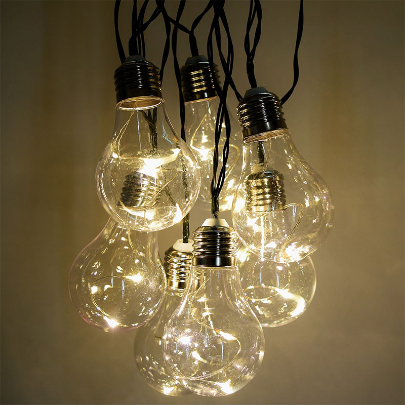 Vintage LED Party String Lights - 10 Lights - 15 feet