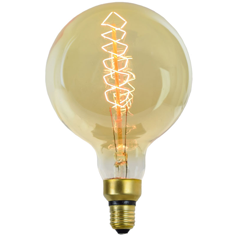 filament globes bulbs shop spiral watt edison vintage led light lighting dimmable clear v