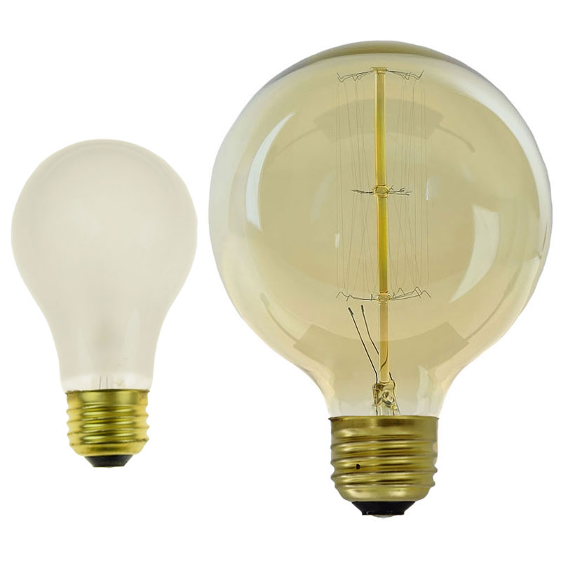 54487 Large Round Edison Lamp