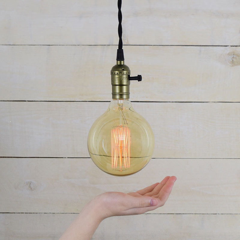 40W Large Round Antique Edison Light Bulb