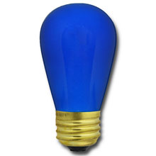 Commercial Light Strand Blue Light Bulbs
