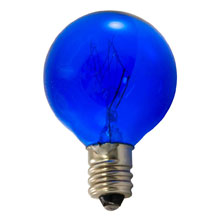 7.5 Watt Blue Candelabra Base Incandescent Light Bulb