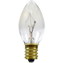 7 Watt Clear Candelabra Base Light Bulbs