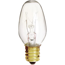 7W Clear Night Light Bulb