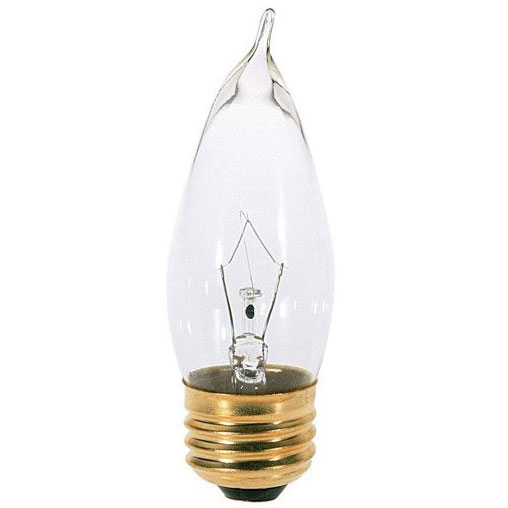 40W Bent Tip Clear Decorative Light Bulb