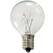 7.5 Watt Clear Linear String Light Bulb - Candelabra Base