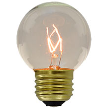 G50 Globe Light Bulbs - 7 Watt - Medium Base - 25 Pack HB-G50CLR-7W-PK