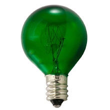 10 Watt Green Candelabra Base Light Bulb