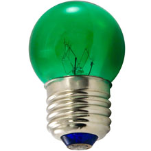 7.5W Green S11 Medium Base String Light Bulb