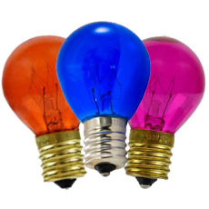 Intermediate Base Colored Light Bulbs