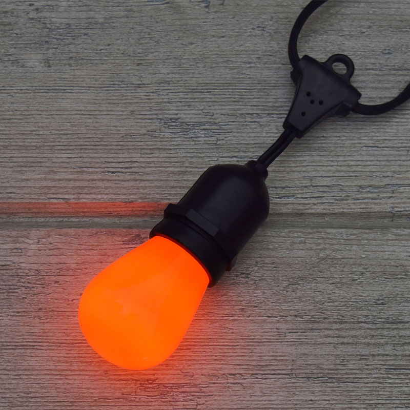 Orange Ceramic Commercial Light Bulb - 11 Watt S14 Medium Base