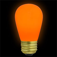 Orange Ceramic Light Bulbs 11 Watt S14 Medium Base - 25 Pack