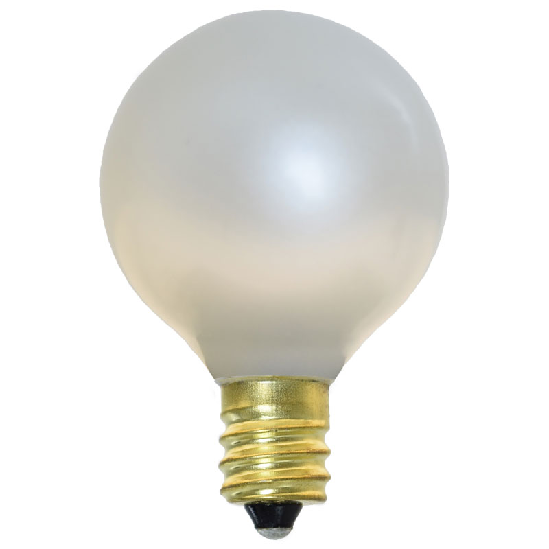 Light Bulbs - Pearl White - Candelabra Base - 25 Pack