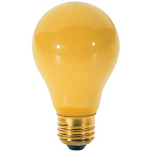 Yellow Bug A19 Light Bulb - 100W - 2 Pack 504831