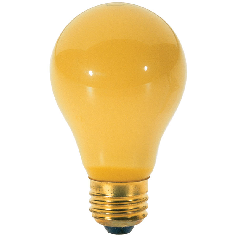 Yellow Bug A19 Light Bulb 100 Watts