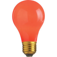 25W A19 Decorative Party Light Bulb - Ceramic Red