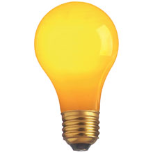 25W A19 Decorative Party Light Bulb - Yellow