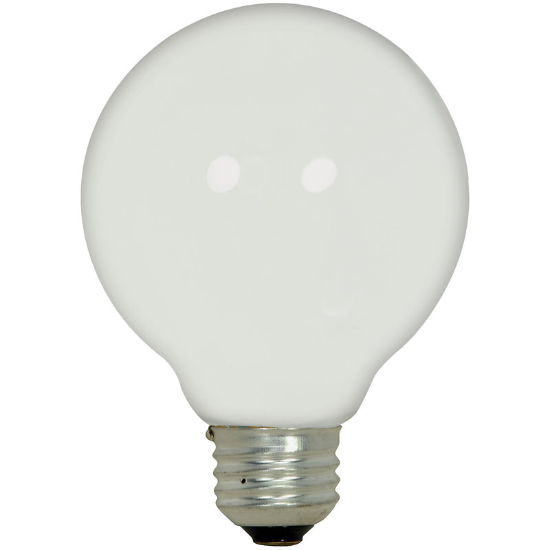 G30 43W White Globe Light Bulb