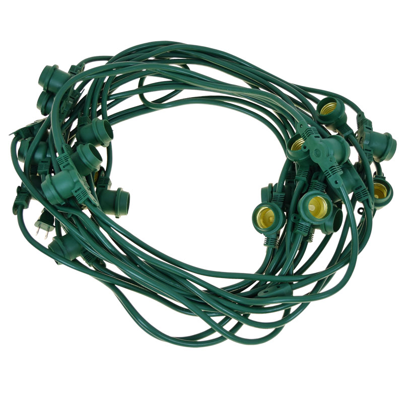 48' Commercial Linear Light String Strand - Medium Base - Green