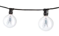 Commercial Grade Mini Light Strand w/ Bulbs - Candelabra Base - 25' - 15165-BLK-CG16