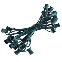 25' Commercial C9 Light Strand - Green