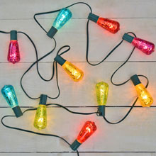10 ft. Multi Color Crackle Glass ST40 Edison Style String Light Set