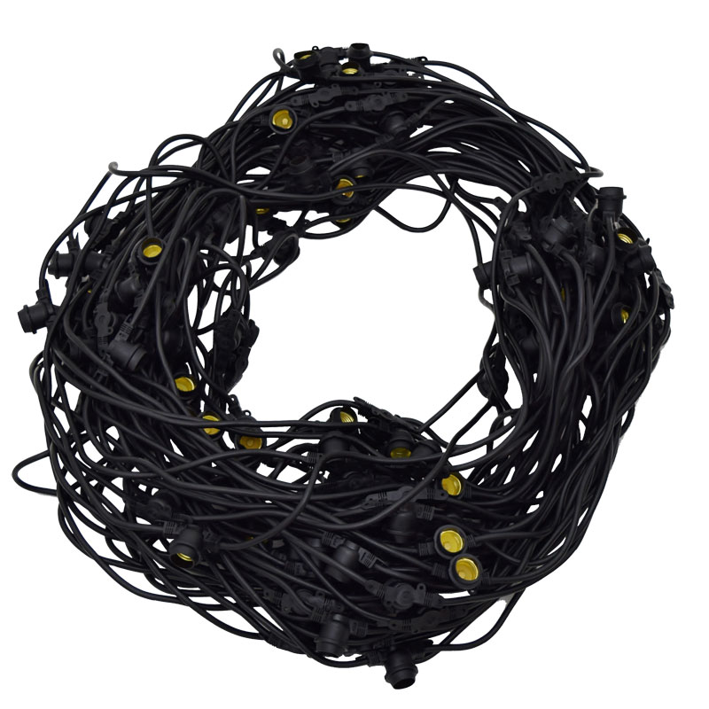 330' Red LED Commercial Light Strand Kit - Plastic Faceted