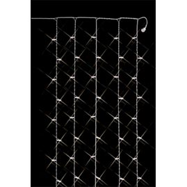 Snowfall Curtain Christmas String Lights - White Wire - 6.6 ft.