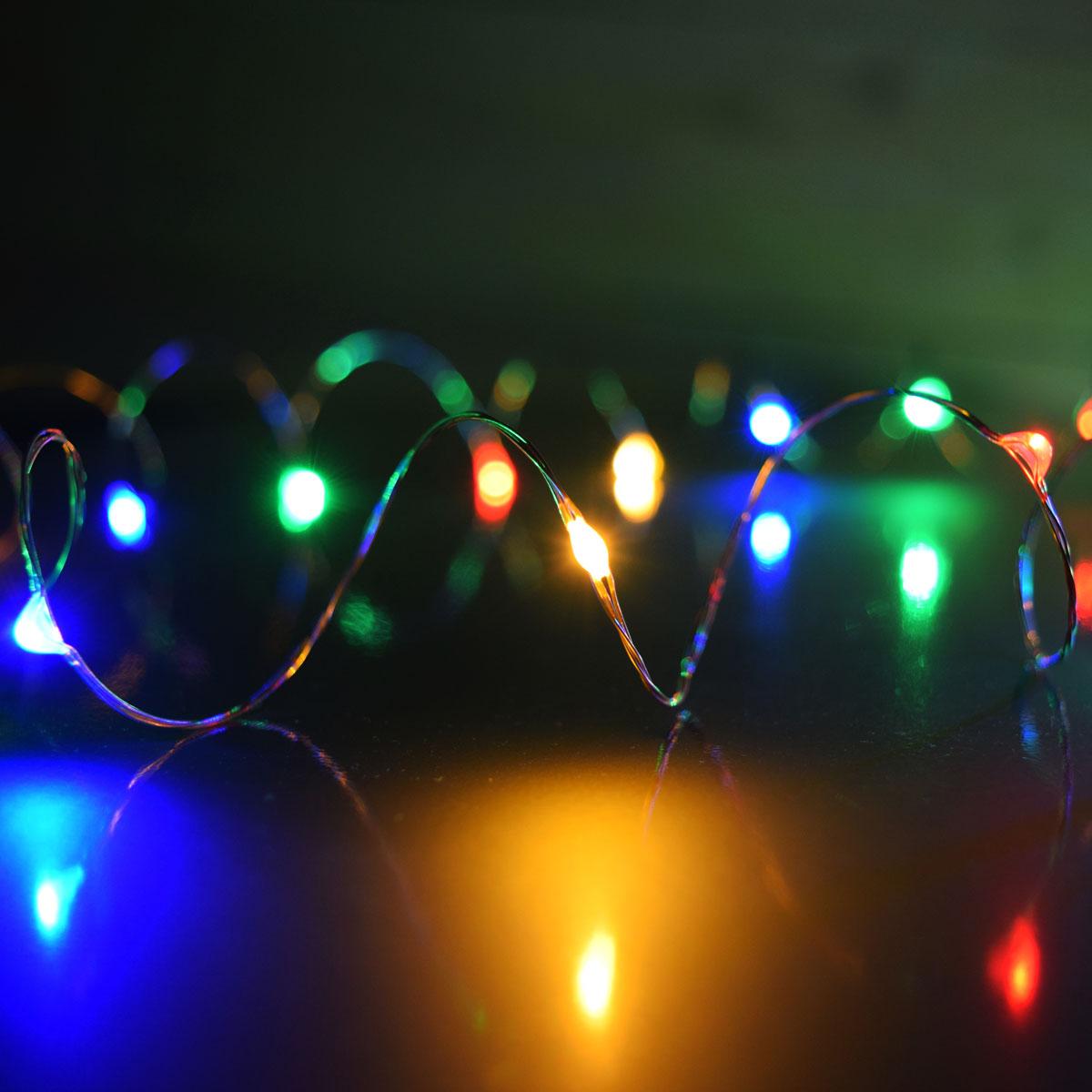 Multi-Color Plug-In LED Dew Drop String Lights