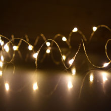 Warm White Starry Fairy Dewdrop LED String Lights