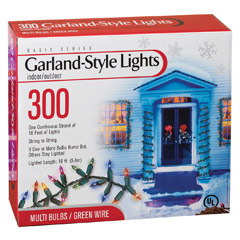Garland Cluster String Lights 300 Count : Miniature Stringlight Light Strands & Mini Light Bulb Strands - Light Strands & Party Lights ...