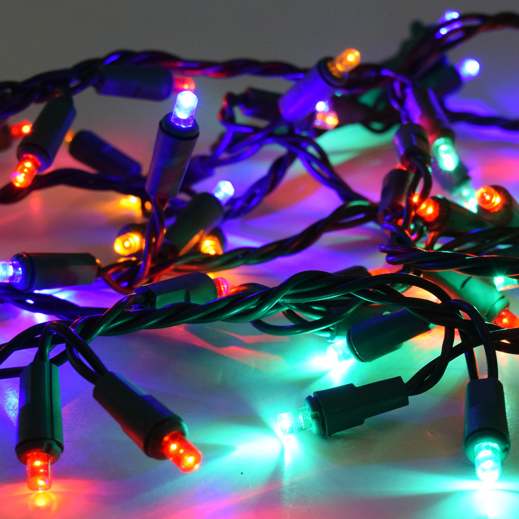 Garland Style String Lights : 60 Multi Color LED Garland Lights