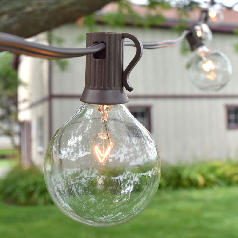 Mason Jar Outdoor Lights G50 patio party string light sets 10 lights g50 patio party string light set workwithnaturefo