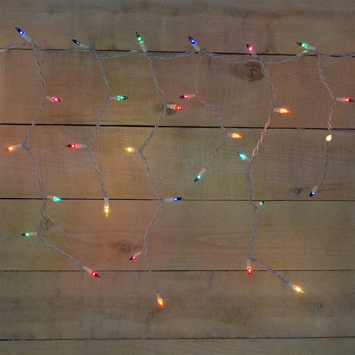 Multi Color Icicle Christmas Lights